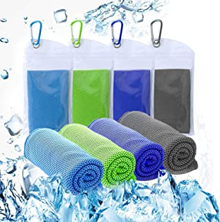 U-picks 凉巾可即时缓解凉爽,* 超细纤维凉爽毛巾,柔软透气冰巾,适用于瑜伽、露营、运动、健身房