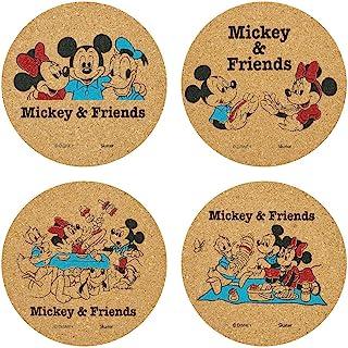 Skater 斯凯达 软木杯垫 4片 米奇&朋友们 野餐 迪士尼 直径9.5cm CTC1S