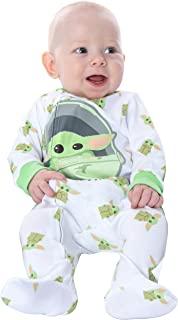 Star Wars 幼儿和婴儿 The Mandalorian Baby Yoda *可爱的银河连体衣睡衣睡衣