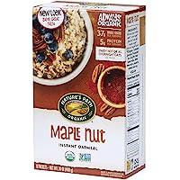 Nature's Path 枫糖坚果即食燕麦片,可靠,每盒8袋,6包,14盎司,400克