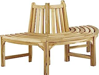 CHICREAT 半圆形茶树长椅,木制长椅约 150 厘米宽,半圆长椅