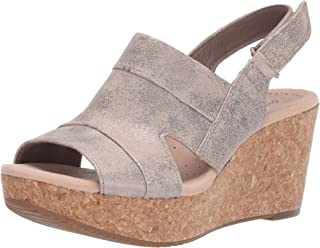 Clarks 女士 Annadel Ivory 坡跟凉鞋