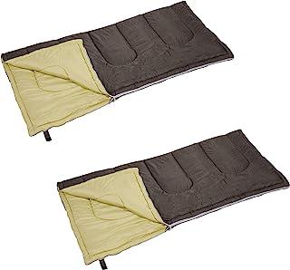 CAPTAIN STAG 睡袋 睡袋【*低使用温度7度】 信封型睡袋 毛毡轨道 全棉量1200克 棕色