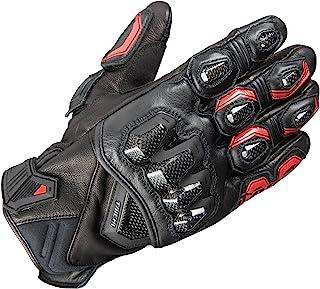 RS TAICHI 高保护皮革手套 黑色/黑色/红色 尺寸:L RST422