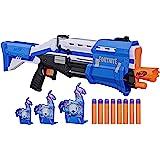 NERF 热火 TS-R Blaster和Llama目标-泵动冲击器 玩具软弹枪,3个Llama目标,8个官方巨型飞镖…