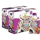 Happy Tood Oganics 超级早期第 4 阶段无乳制品食品袋、苹果、阿萨伊、椰奶和燕麦 + 超级奇亚籽,4…