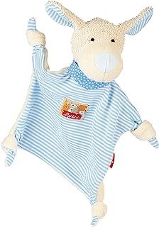 Sigikid Comforter Dog (White with Turquoise Stripes)