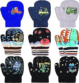 9 双装幼儿针织连指手套弹力全指手套针织手套冬季保暖手套儿童配件