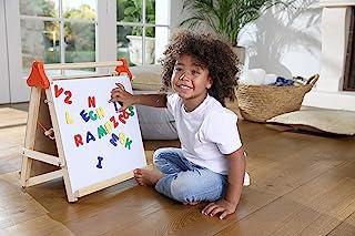 Edushape 儿童画架 - 4 合 1 桌面艺术站 - 白板、粉笔板、绘图/绘画板和磁铁(43.18 厘米 X 50.8 厘米)