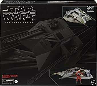 Star Wars 黑色系列 Snowspeeder 汽车,带 Dak Ralter 人偶 6 英寸的 Star Wars:帝国攻击回头收藏玩具