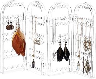Relaxdays 丙烯酸饰品架,可折叠首饰支架,适用于耳环,项链,不同尺寸,清晰 透明 4 10024639_342