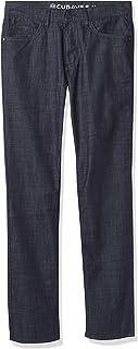 Cubavera 男士弹力5口袋牛仔牛仔裤,Dark Indigo, 36W x 32L