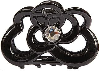 Caravan 手工装饰卷设计发爪 带施华洛世奇水晶石双面,黑色 65 盎司