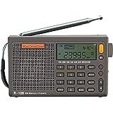RADIWOW R-108 收音机数码便携式收音机 FM 立体声 LW/SW/MW/AIR/DSP接收器带液晶声音适合室…