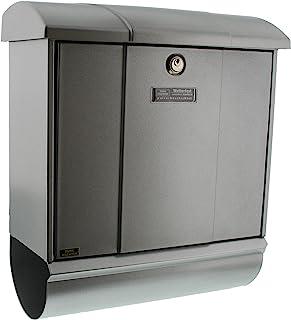 Burg-Wächter 信箱套装,内置报纸格层,A4规格,欧盟标准 EN 13724,镀锌钢,奥林匹克套装 91600 Si,银色