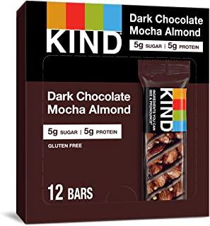 KIND 能量棒 黑巧克力抹茶杏仁,无麸质,低糖,1.4盎司/约40克,12支