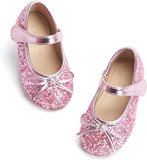 Otter MOMO 幼儿/女童玛丽珍芭蕾舞平底鞋一脚蹬学校派对正装鞋
