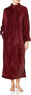 CASUAL MOMENTS 女式 52 英寸(约 132.1 厘米)分离式拉链前长袍 深紫红色 Small