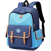 儿童背包 儿童书包 幼儿园 小学 书包 适合 4-10 岁女孩 男孩 robin 蓝 14 Inch