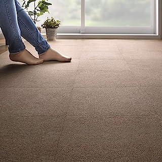 Sanko 不移位 无障碍 瓷砖 地毯 垫 30×30厘米 只需放置即可吸附 日本制造 棕色 30×30cm KF-16