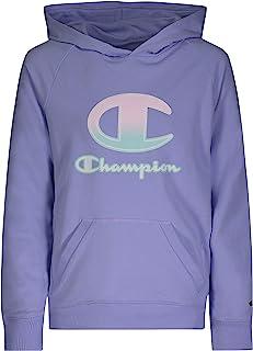 Champion 女孩经典法式厚绒布套头连帽运动衫 儿童服装
