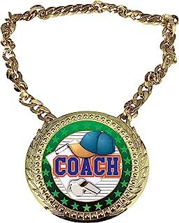 Express Medals Coach 冠军链*杯,带中心铭牌,尺寸为 15.24 x 13.32 厘米,包括一条 86.26 厘米链子和黑色天鹅绒礼品袋。