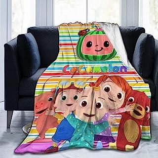 Pulchrumcs Cocomelon 毛毯柔软法兰绒毛毯沙发床空调被子成人儿童 127 x 101.6 厘米