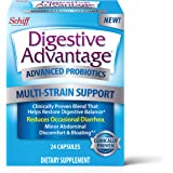 Schiff 旭福 Digestive Advantage 多菌株支持益生元胶囊(一盒24粒)-经过验证的混合物,有助于…