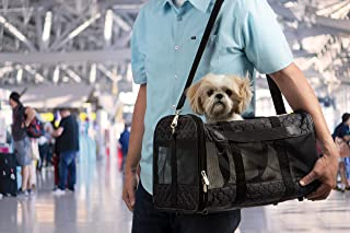 Sherpa 旅行原装豪华航空公司批准宠物背带 黑色格子 大
