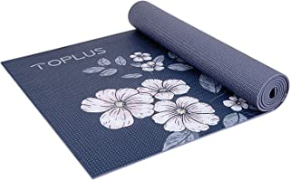 TOPLUS 瑜伽垫防滑瑜伽垫环保锻炼和锻炼垫,带背带 - 适合瑜伽、普拉提和地板锻炼(0.64 厘米 - 0.32 厘米)