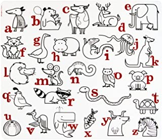 美国 Modern+Twist 儿童款彩绘超软硅胶餐垫 - 动物字母表