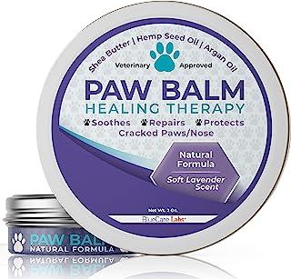 BLUECARE LABS Paw Soother *干燥、开裂*的狗爪垫 - *天然成分爪子保护,防止热量和雪修复受损的狗爪 - 带有舒缓薰衣草香味的爪子黄油