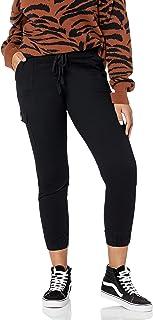 COVER GIRL 女式工装口袋迷彩慢跑裤青少年加大码高腰紧身裤带抽绳