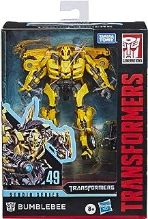 Transformers Toys Studio Series 49 Deluxe Class Movie 1 Bumblebee 可动公仔 - 8 岁及以上儿童,4.5 英寸