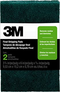 3M Open Stock Final Stripping Pads, 3.75-Inch by 6-Inch, 2-Pad