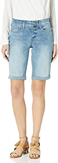 NYDJ 女式 Briella 牛仔短裤带卷边