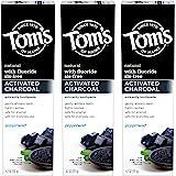 Tom's of Maine 天然活性炭亮白牙膏,薄荷,4.7盎司,133克,3件装