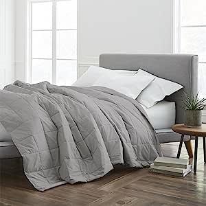 ECO PURE EcoPure 填充毯,大号双人床,深灰色