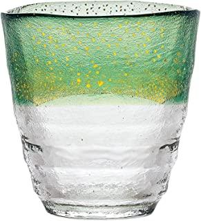 东洋佐佐木玻璃 烧酒杯 日式温酒杯 绿色 300毫升 日本制造 42130TS-G-WHDG