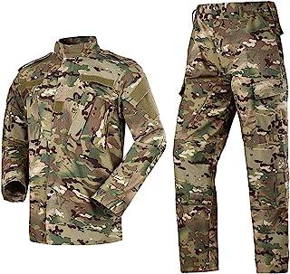 男式战术夹克和裤子军迷彩狩猎 ACU 制服 2 件套
