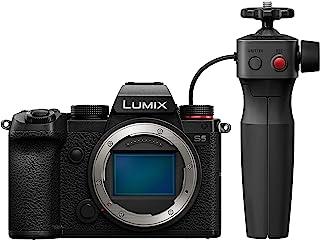 Panasonic 松下 LUMIX DC-S5GR-KIT S5 全框无反相机机身,4K 60P 视频录制,带翻转屏幕和 Wi-Fi,L 型安装,5 轴双 I.S,(黑色) 和视频记录手柄 [亚马逊*销售]
