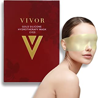 Vivor Beauty Gold Silicone Hydrotherapy Eye Mask. Reduce Eye Bags, Crow's Feet, Wrinkles, and fine lines. Reusable up to 1...