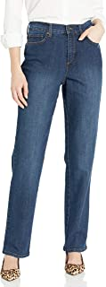 Gloria Vanderbilt Women's Petite Amanda-Classic Straight Leg Jean in Short Length, Scottsdale Wash, 14P