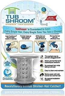 TubShroom 革命性淋浴缸排水保护接发器/滤水器/防尘器 灰色 TSGRA454