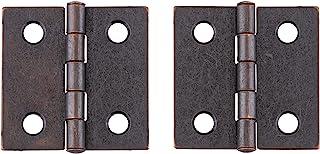 1-1/2 英寸 X 1-1/2 英寸(约 3.8 厘米 X 3.8 厘米)古铜铰链橱柜门,箱子家具五金件   H16-H537B-AC112 (1)
