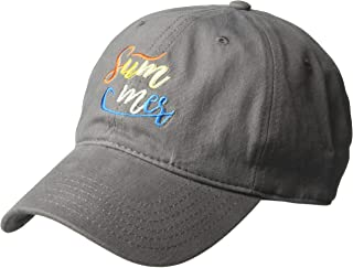 Macbeth 女士夏季刺绣棒球帽,可调节,浅灰色,均码
