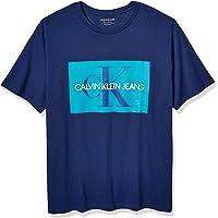 Calvin Klein 男式短袖花押字LogoT恤