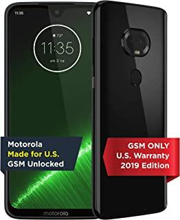 Motorola 摩托罗拉 Moto G7 Plus 手机 | 解锁,美国制造 | 4 / 64GB | 16MP相机 | 2019 | 黑色