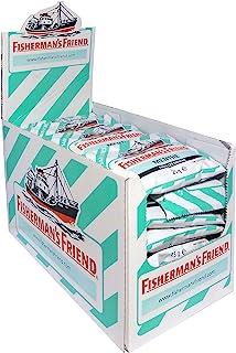 Fisherman's Friend 薄荷,24袋纸盒装,薄荷薄荷脑口味,无糖可清新口气