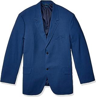 Perry Ellis 男式高大可洗纯色弹力西装外套